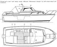 Боковой вид и план — вид сверху катера «Максим»