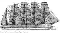 Боковой вид пятимачтового барка «Мария Рикмерс»