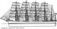 Боковой вид пятимачтового барка «Потоси»