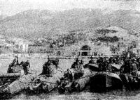 Бригада катеров в освобожденной Ялте