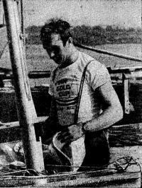 Бронзовый призер XX Олимпиады в классе «Финн» Виктор Потапов