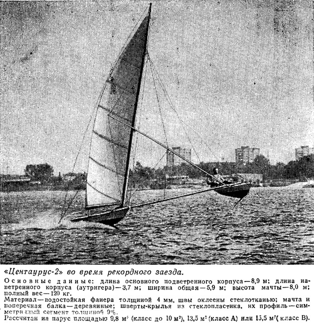 «Центаурус-2» во время рекордного заезда