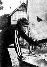 Чемпион Европы 1977 г. в классе «Финн» среди юниоров Сергей Хорецкий