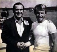 Чемпион Европы 1982 г. Андрей Берницын (справа) и тренер Владимир Воякин