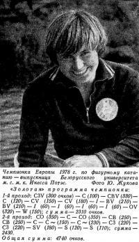 Чемпионка Европы 1978 г. по фигурному катанию м. с. м. к. Инесса Потэс