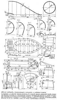 Детали водовода, спрямляющего аппарата и рабочего колеса