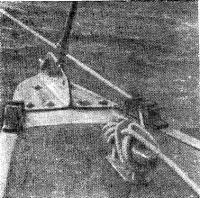 Дополнительные дельные вещи на носовой части яхты О. Н. Абакумова