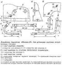 Доработка двигателя «Москва-30» для установки системы рециркуляции топлива