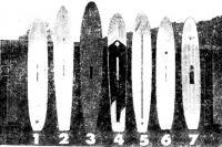 Доски испытуемых виндсерферов