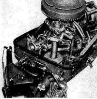 ДУ установленное на мотор «Привет-22»