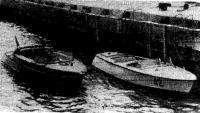 Два серийных глиссирующих катера — типа «КС-2» (слева) и «КС(М3)»
