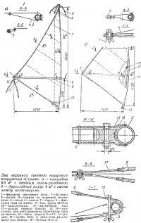 Два варианта типового парусного вооружения «Стриж»