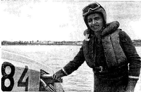 Дважды чемпион СССР в классе глиссеров R4 м. с. В. Цыбульник (УССР)