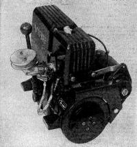 Двигатель «Вире-7». Вид со стороны шкива ручного стартера