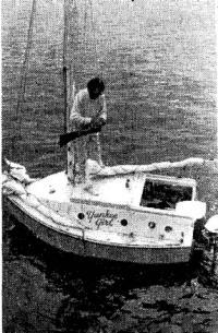 Джерри Спейс на свое яхте