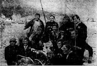 Экипаж победителя гонки — яхты «Грейт Бритн II»