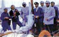 Экипаж яхты «Нерия» после вручения переходящего Кубка