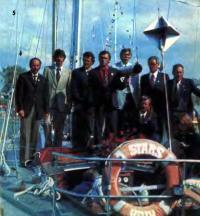 Экипаж яхты «Старс» — победитель среди яхт II класса IOR