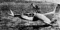Экраноплан А. Липпиша «Х-113» в полете