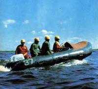 Экспериментальная надувная лодка «Орион-50» Ярославского п/о «Резинотехника»