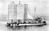 Экспериментальное парусно-моторное судно «Дайох» на ходу