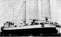 Экспериментальное парусно-моторное судно «Дайох» перед спуском на воду