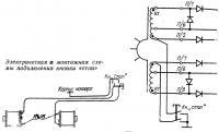 Электрическая и монтажная схемы подключения кнопки «стоп»
