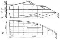 Эскиз обводов и общего вида лодки