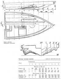 Эскиз обводов «Морского дротика»