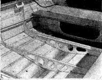Эскиз теоретического чертежа — проекция корпус