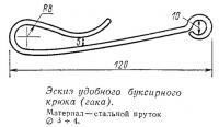 Эскиз удобного буксирного крюка