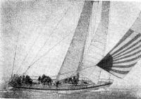 «Флайер» под спинакером и спинакер-генуей в слабый ветер