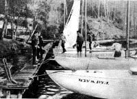 Флот «Паруса» у клубного причала