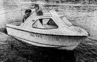 Фото экспериментального катера на воде