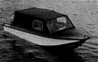 Фото лодки «Ока-4» с тентом