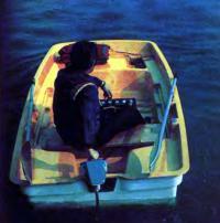 Фото лодки «Онега» с кормы