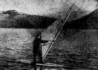 Фото первого виндсерфера на Курильских островах
