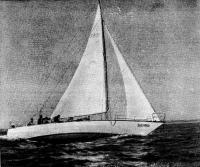 Фото яхты «Былина» сбоку