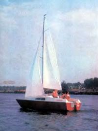 Фото яхты «Курьер» на ходу