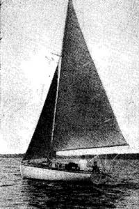 Фото яхты «Восток» на ходу