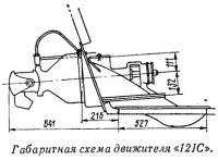 Габаритная схема движителя «12JC»