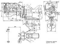 Габаритные размеры агрегата «Б-130»