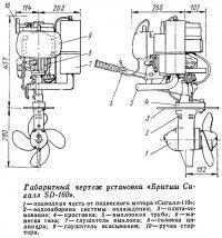 Габаритный чертеж установки «Бритиш Сигалл SD-160»