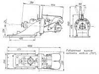 Габаритный чертеж водомета модели «751»