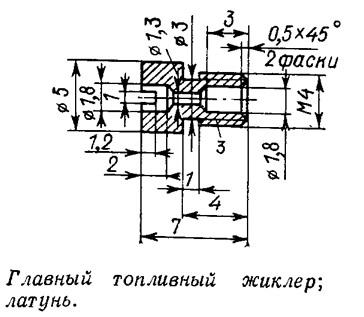 Главный топливный жиклер; латунь