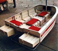 Гребно-моторно-парусный катамаран из легкого сплава «Миус»