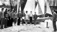 Инструктаж молодых яхтсменов