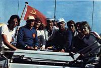 Интернациональный экипаж «Спарты» на переходе Карлскруна — Фредериксхавн