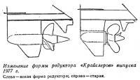 Изменение формы редуктора «Крайслеров» выпуска 1977 г.
