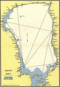 Карта-схема Чудского озера